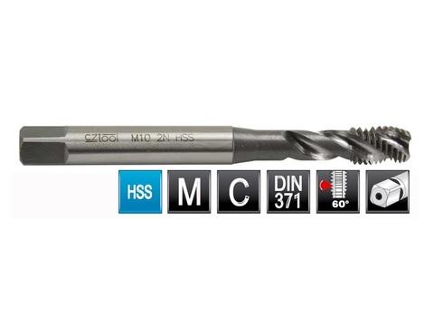 Метчик машинный спиральный Bucovice DIN371 C/2,5P 2N HSS M3х0,5мм 103030