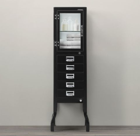 Pharmacy Large Bath Cabinet with Drawers