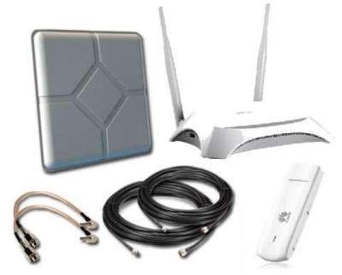 Загородный LTE комплект с усилением WIFI интернета (до 1000 кв.м)