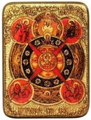 Инкрустированная икона Всевидящее Око Божие 20х15см на натуральном дереве в подарочной коробке