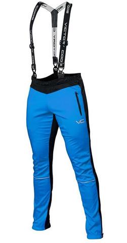 Лыжные разминочные брюки 905 Victory Code Dynamic Blue с лямками 2019