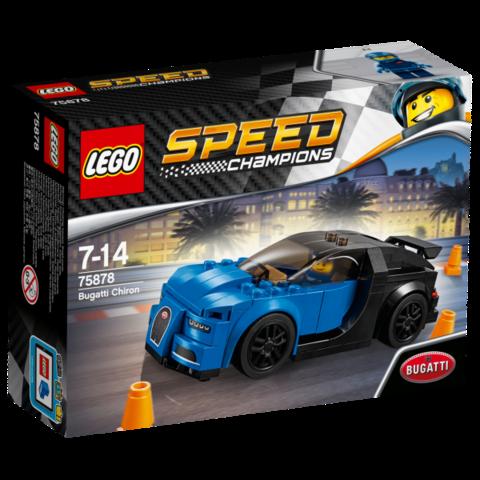 LEGO Speed Champions: Автомобиль Bugatti Chiron 75878 — Bugatti Chiron — Лего Спид чампионс Чемпионы скорости