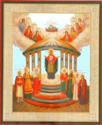 Икона Божией Матери Семистолпная