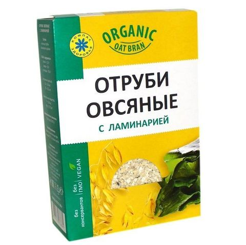 Отруби Овсяные с ламинарией 0,2кг (Компас здоровья)