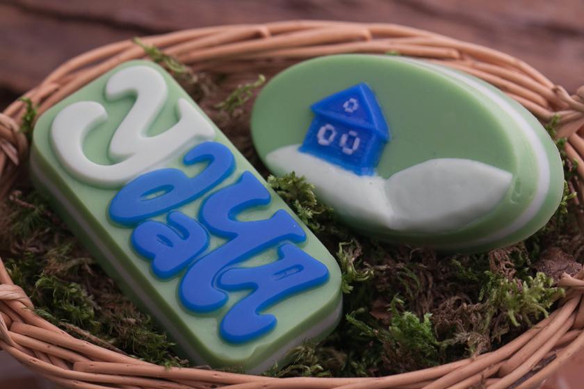 Форма для изготовления мыла Домик на лужайке