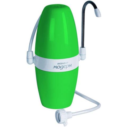 Фильтр насадка на кран Аквафор Модерн модель 1 зелёный.
