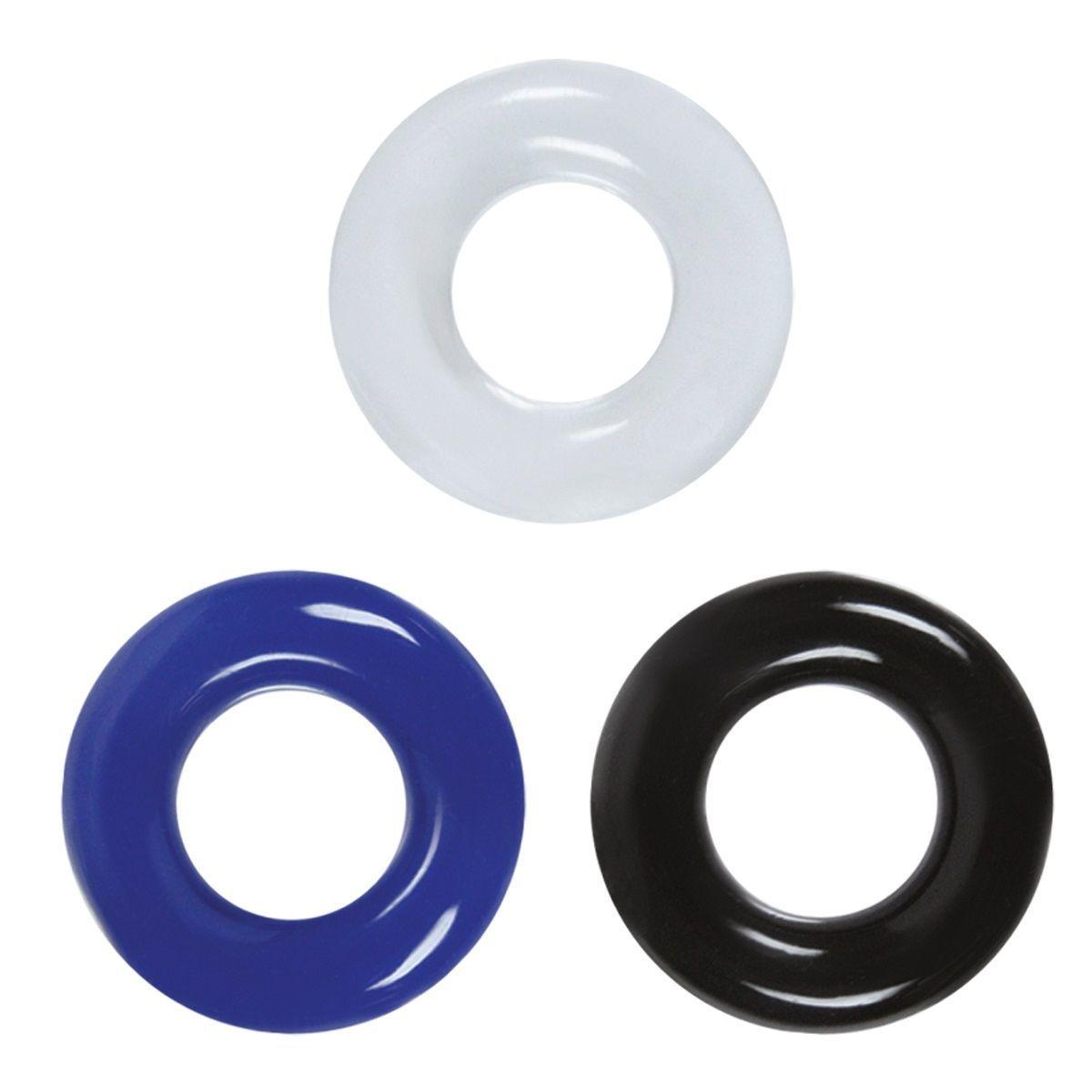 Эрекционные кольца: Набор разноцветных эрекционных колец Stamina Rings