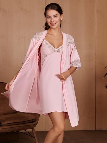 Vivamama. Комплект для беременных и кормящих Izabel, розовый