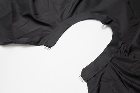 Накидка Ставвер Коллар Кейп для стрижки с крючками черная 128*148