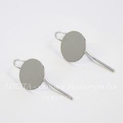 Швензы - крючки с площадкой 10 мм, 24х10 мм (цвет - платина), пара