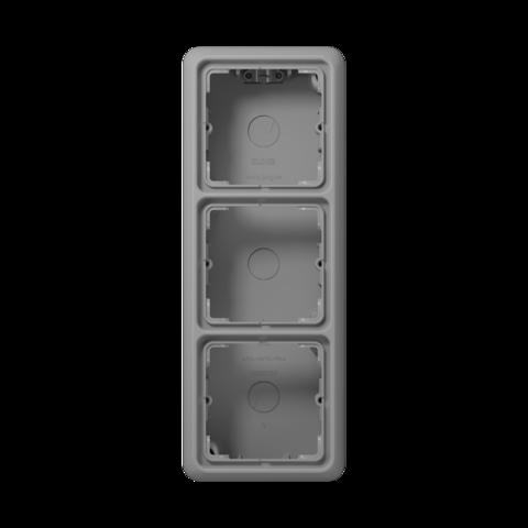 Накладная коробка на 3 поста. Цвет Серый. JUNG CD Накладные коробки. CD583AGR