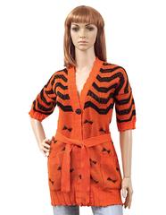 Ж1541-5 кофта жен. длин.рукав оранжевая