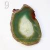 Подвеска Срез Агата (тониров), цвет - коньячно-зеленый, 51-77 мм (№9 (72х49 мм))