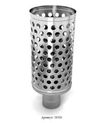 Каменка натрубная ДИЗЕЛЬ, Ø115, 1/0,5мм, нерж/нерж