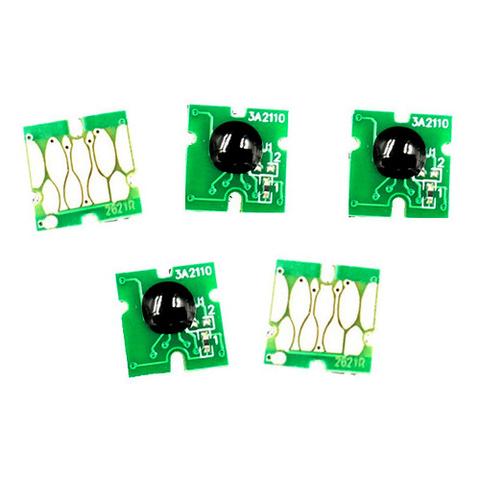 Чипы для картриджей Epson XP-630, XP-830, XP-530, XP-900, XP-640, XP-540, XP-645, XP-635 (T3331-T3344), комплект 5 штук., условно автообнуляемые