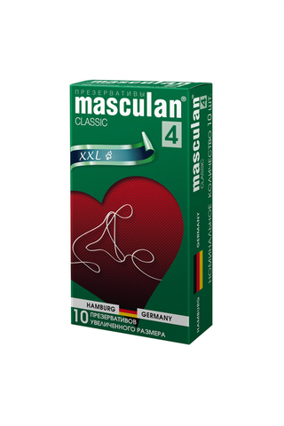 Презервативы Masculan Classic 4,  10шт.  Увеличенного размера (XXL) ШТ фото