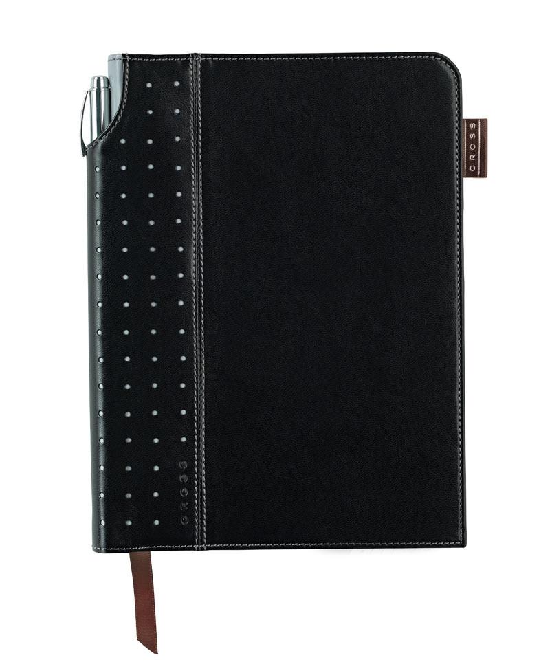 Записная книжка Cross Journal Signature A5, 250 страниц в линейку, ручка 3/4 в комплекте. Цвет - чер