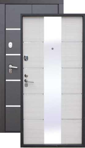 Сейф-дверь входная Цитадель Alta Tech, 2 замка, 2 мм  металл, (венге+ясень белый)