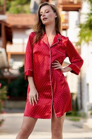 Халат женский на пуговицах красный MIA-AMORE DOROTHY ДОРОТИ 8707