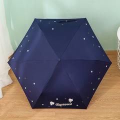 Ультра легкий зонт - карандаш с защитой от ультрафиолета Chocolat (синий)