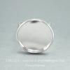 Основа для кольца с сеттингом для кабошона 20 мм (цвет - серебро)