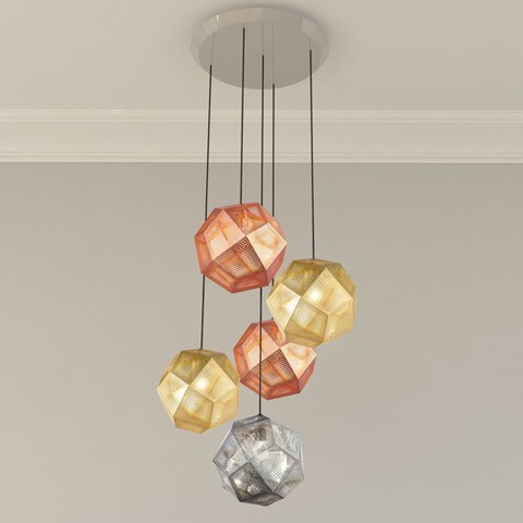 Etch 5 Light Multipoint Pendant By Tom Dixon, from Tom Dixon