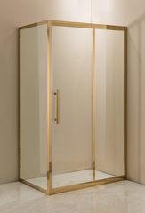 Душевое ограждение Grossman PR-120GQR золото, 120х80 R, с раздвижными дверьми, прямоугольное