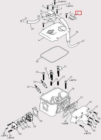 Пробка-щуп для лодочного мотора F9.8 Sea-PRO (9-7)