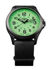 Швейцарские тактические часы Traser P67 OFFICER PRO GUNMETAL Lime 107431