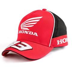 Кепка с вышитой эмблемой Хонда 93 Маркес (Бейсболка Honda Marques 93) красная