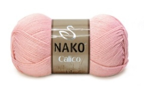 Пряжа Nako Calico светло-коралловый 11452