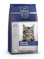 Gina Elite Adult Cat Duck & Rice полнорационный корм высшей категории качества для взрослых кошек с уткой и рисом