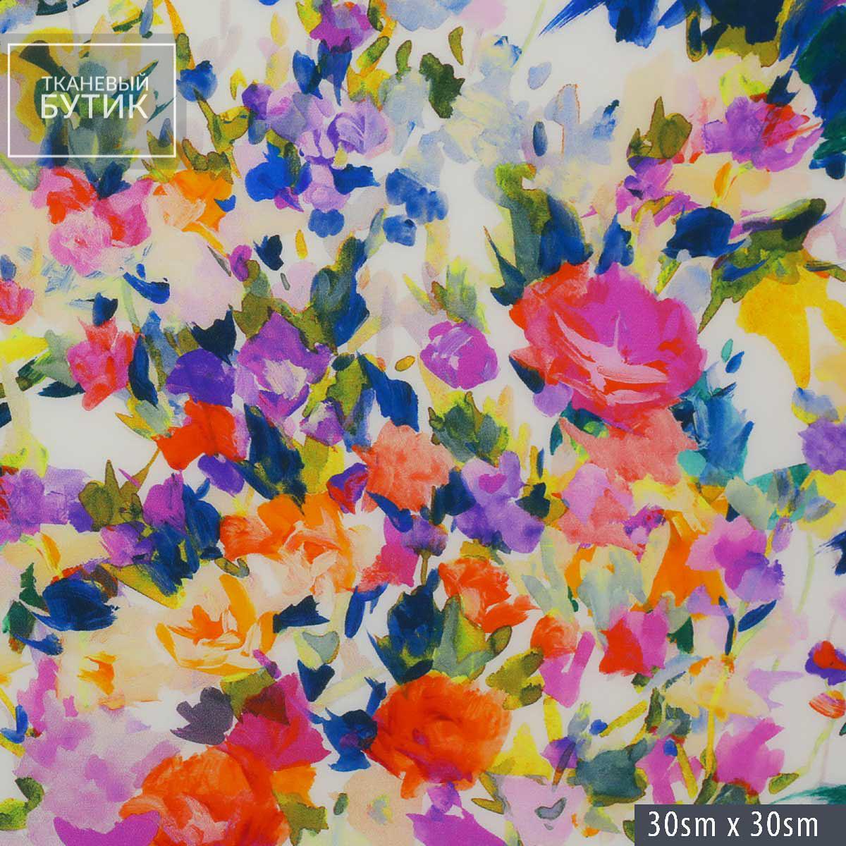 Нежный шелк с цветочным мотивом в стиле Моне