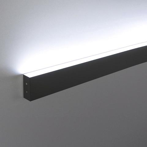 Линейный светодиодный накладной односторонний светильник 53см 10Вт 4200К черная шагрень LS-02-1-53-4200-MSh