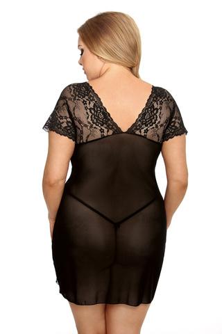 Сорочка черная кружевная