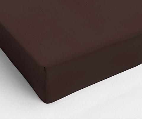 Простыня на резинке 180x200 Сaleffi Tinta Unito с бордюром коричневая