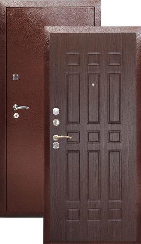 Дверь входная Аргус ДА-18, 2 замка, 2 мм  металл, (медь антик+венге)