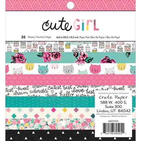 Набор бумаги 15х15см  Cute Girl by Crate Paper
