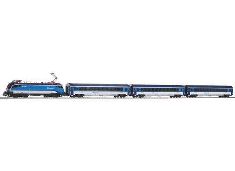 Piko 57173 Стартовый набор модельной железной дороги «Пассажирский состав Taurus CD Railjet», 1:87