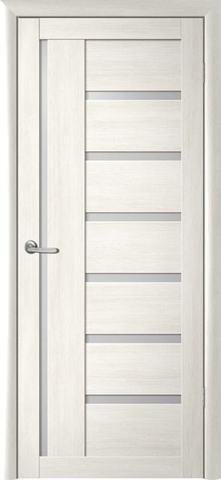 Дверь Фрегат ALBERO Мадрид, стекло матовое, цвет кипарис белый, остекленная