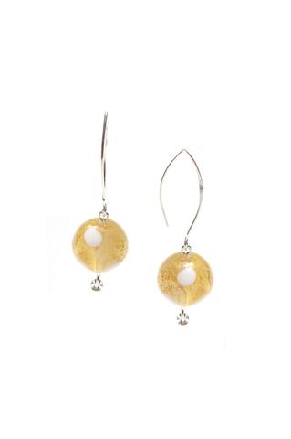 Серьги Perla Grazia золотистые pois (Crystal Gold Pois)