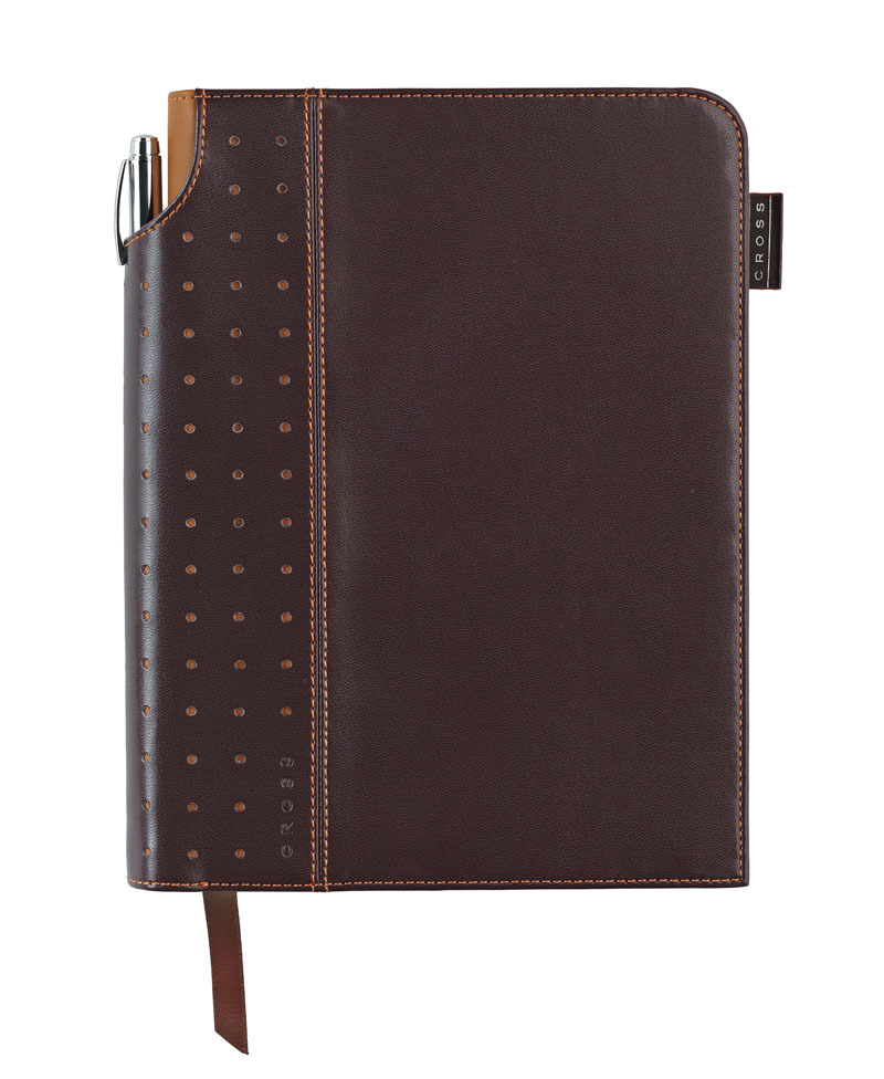 Записная книжка Cross Journal Signature A5, 250 страниц в линейку, ручка 3/4 в комплекте. Цвет - кор