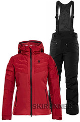 Тёплый горнолыжный костюм Maximilia Red Poppy Black женский
