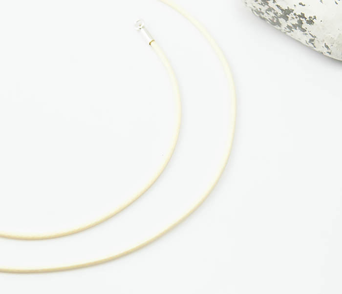 PL277-4 Шнурок на шею из текстиля бежевого цвета (55 см) фото 04