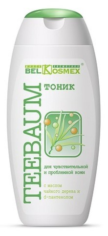 BelKosmex Teebaum Тоник для чувствительной и проблемной кожи с маслом чайного дерева и d-пантенолом 150мл