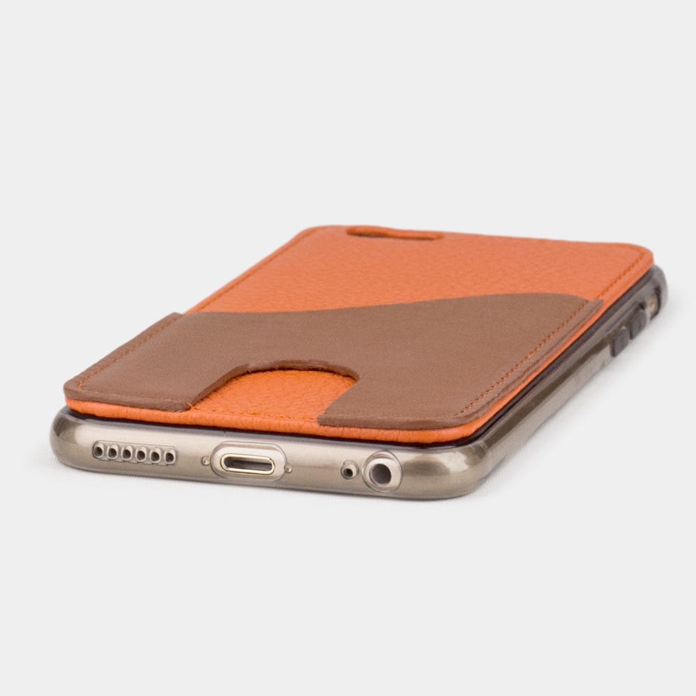Чехол-накладка Andre для iPhone 6/6S из натуральной кожи теленка, оранжевого цвета