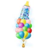 Букет шариков с бутылочкой для мальчика
