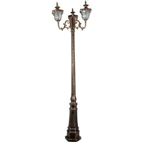 Светильник садово-парковый, 3*60W 230V E27 IP44 черное золото, PL4049 (Feron)