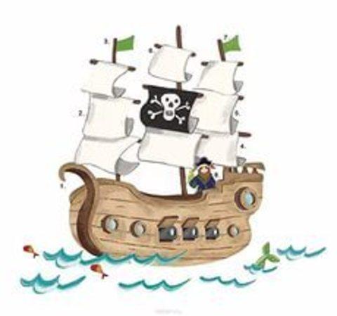 Roommates. Наклейки для декора .Пиратский корабль