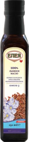 """Масло льняное """"Елея"""" Нерафинированное 250гр"""